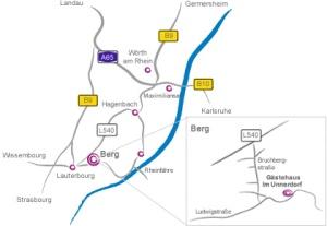 Karte Gästehaus Im Unnerdorf