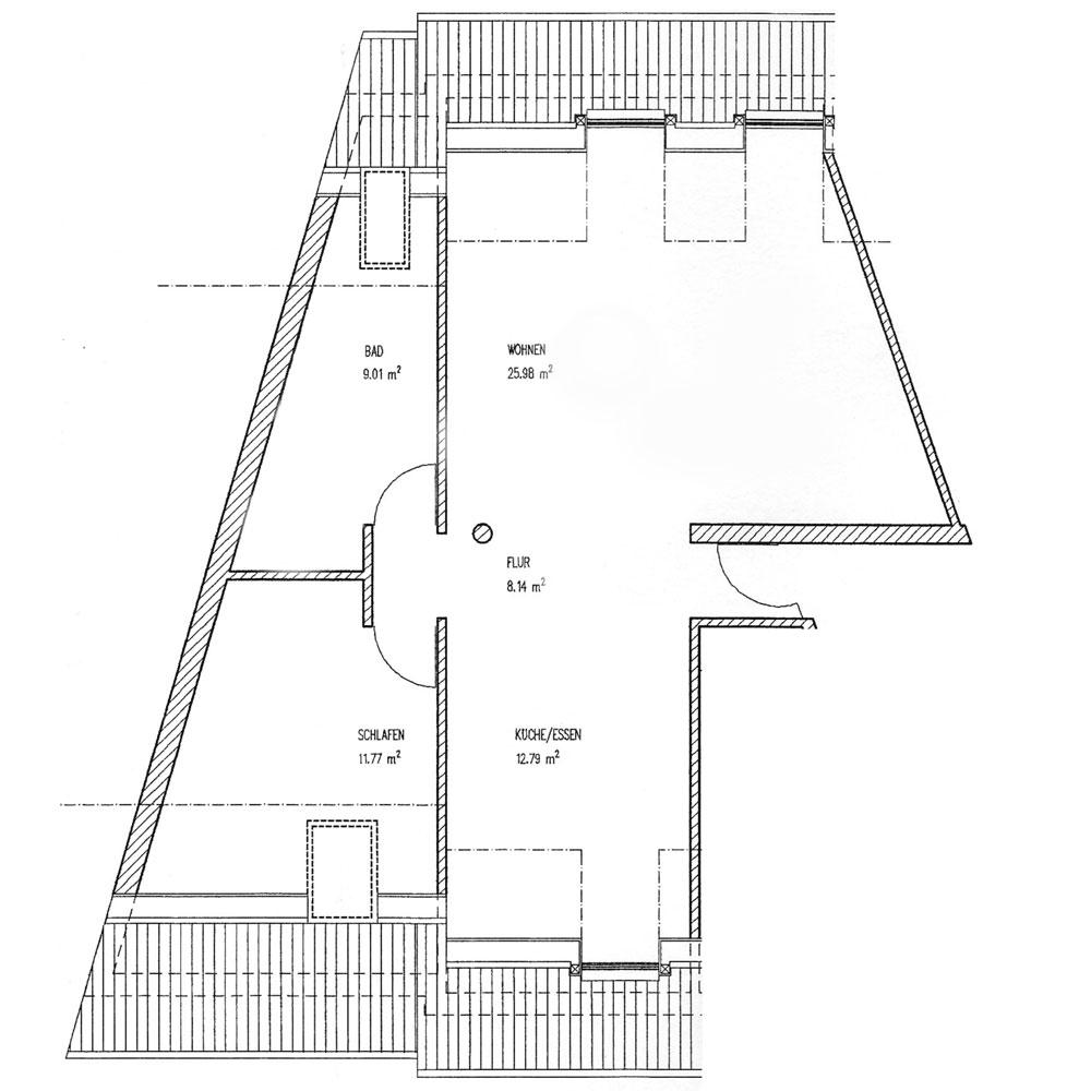 Gästehaus Im Unnerdorf Plan Ferienwohnung 2